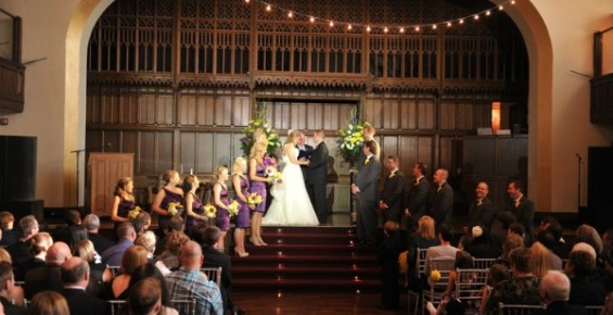 Wedding ceremony The Bluestone - Columbus Ohio