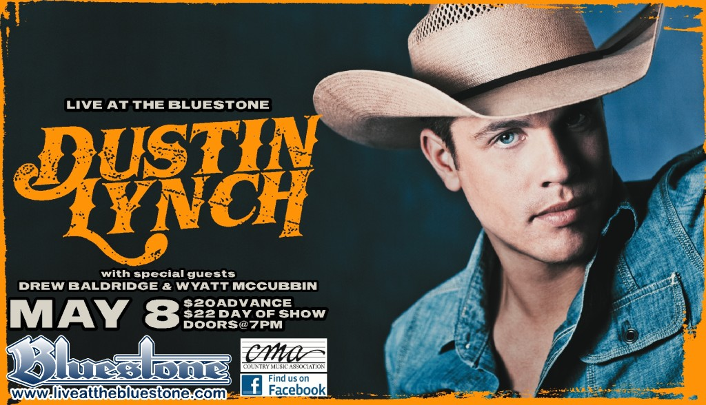Dustin lynch meet greet photo contest the bluestone dustin lynch will perform at the bluestone for the first time on may 8th 2014 with wyatt mccubbin and drew baldridge influenced by alan jackson m4hsunfo