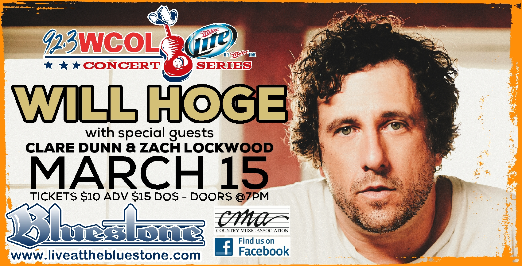 Will hoge meet greet contest the bluestone contest time we are giving away five pairs of meet greet passes to will hoge this saturday 315 m4hsunfo