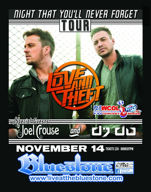 WCOL & Miller Lite Present: LOVE AND THEFT: Night That You'll Never Forget Tour
