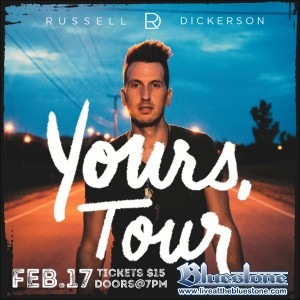 Russell Dickerson Live February 17th @ The Bluestone | Columbus | Ohio | United States