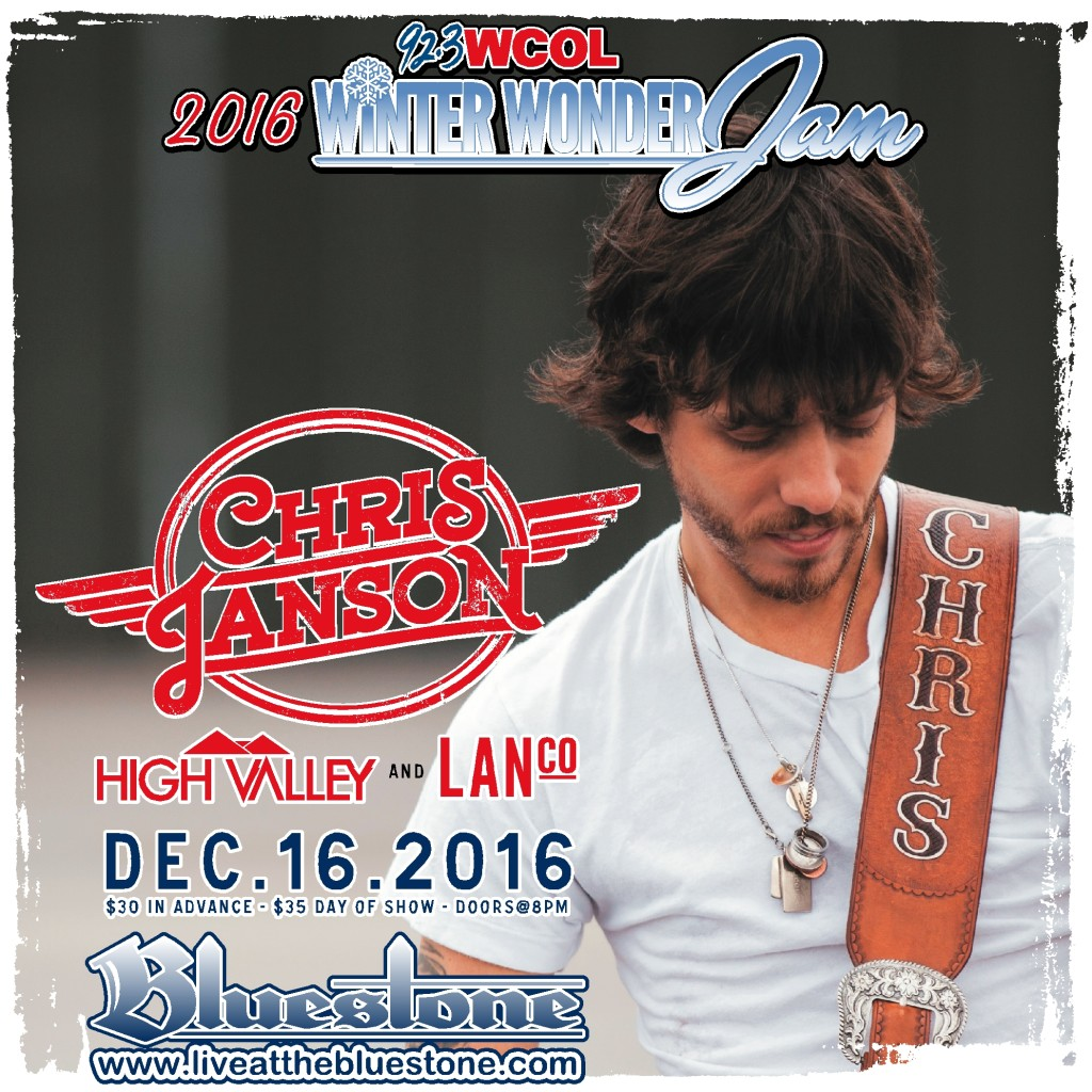 Chris Janson The Bluestone - Columbus Ohio