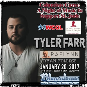 SOLD OUT: Tyler Farr: A Night of Music to Support St. Jude @ The Bluestone | Columbus | Ohio | United States
