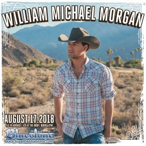 William Michael Morgan LIVE August, 17th @ The Bluestone | Columbus | Ohio | United States