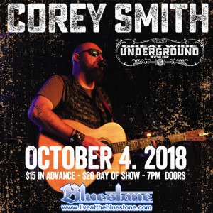 Corey Smith LIVE October, 4th @ The Bluestone  | Columbus | Ohio | United States