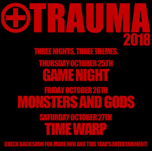 TRAUMA  2018 @ The Bluestone | Columbus | Ohio | United States